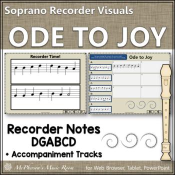 Soprano Recorder Song ~ Ode to Joy Interactive Visuals {Notes DGABCD}
