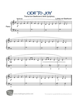Ode to Joy | Sheet Music for Easy Piano - Play and Learn™ Series