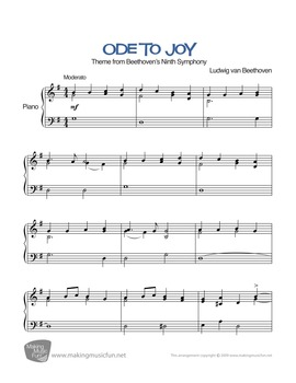 Ode to Joy | Sheet Music for Intermediate Piano - Play and Learn™ Series