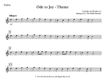 Ode to Joy - Treble and Bass with Audio