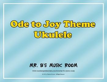 Ode to Joy - Ukulele Music with Audio