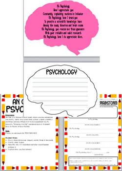 Ode to Psychology Poem with directions, examples, printable