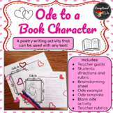 Ode to a Book Character: A Poetry Writing Activity