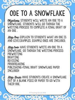Ode to a Snowflake