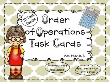 Order of Operations- P.E.M.D.A.S -Task Cards