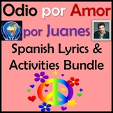 Odio por Amor by Juanes - Spanish Song Lyrics & Activities Unit