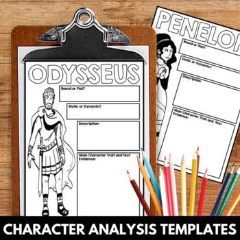 The Odyssey Novel Study Unit Character Analysis