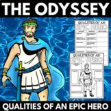 The Odyssey Novel Study Unit Character Analysis - Epic Hero