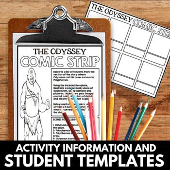 The Odyssey Novel Study Unit  Comic Book Summary Project