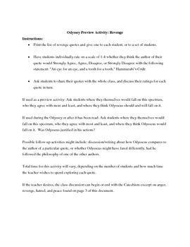 Odyssey Activity: Revenge
