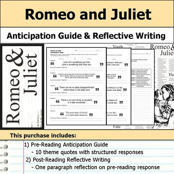 Romeo and Juliet - Anticipation Guide & Reflection