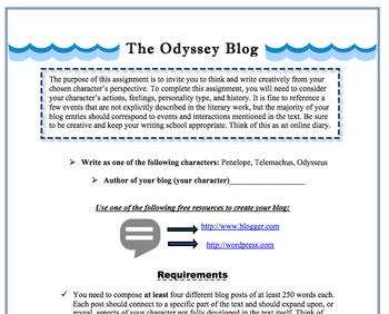 Odyssey Blog Activity-Digital Writing, Reading, & Textual Analysis