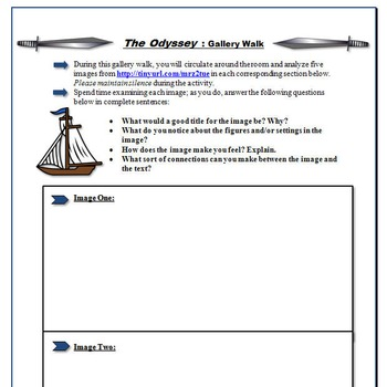 Odyssey Bundle: Blog, Gallery Walk, and Resume Activities for Literary Analysis