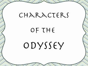 Odyssey Characters Powerpoint