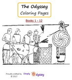 Odyssey, Coloring Pages (books 1-12)