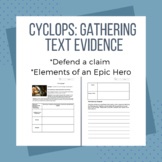 Odyssey Cyclops Activity: Gathering Text Evidence and Writ