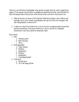 odyssey essay prompts