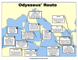 Odyssey Map - Sequencing Odysseus' Travels for Students and Teachers