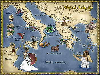 Odyssey Map from Elements of Literature