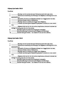 Odyssey Quiz books 17-18