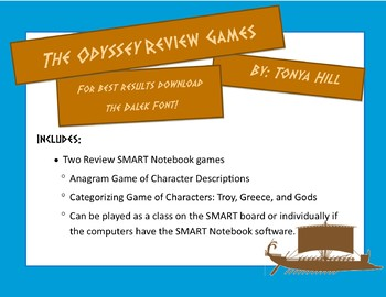 Odyssey Review SMART Notebook Games