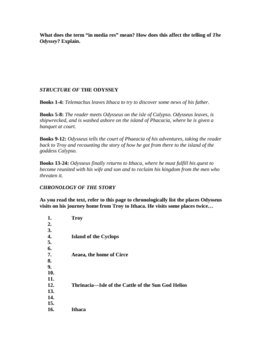 Odyssey Unit: 16-page Study Guide