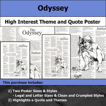 Odyssey - Visual Theme and Quote Poster for Bulletin Boards