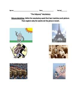 Odyssey Vocabulary Unit