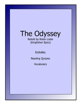 Odyssey novel packet for younger students - vocabulary & reading quizzes