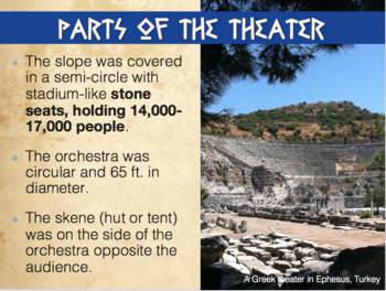Oedipus, Antigone Greek Theater Introductory PowerPoint and Activity