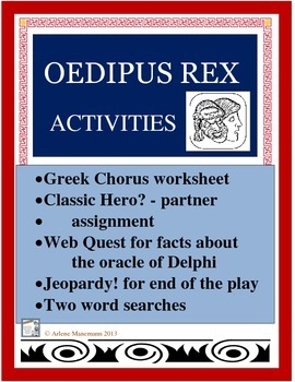 Oedipus Rex, Activities including Oracle of Delphi Web Quest