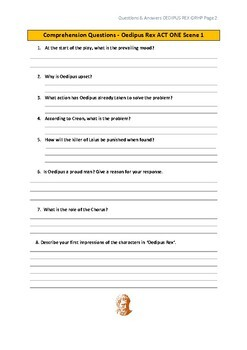 Oedipus Rex Comprehension Questions & Answers