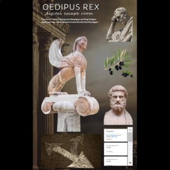 Oedipus Rex Digital Lock Box Escape Room Game