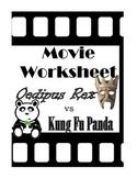 Oedipus Rex: Movie Worksheet with Kung Fu Panda