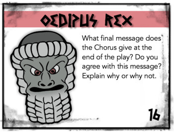 Oedipus Rex Task Cards: Discussion Questions, Quizzes, Bell-Ringers