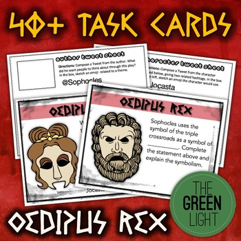 Oedipus Rex Unit Bundle: Worksheets, Activities, Task Cards, Projects