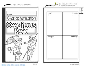 OEDIPUS REX, BY SOPHOCLES: INTERACTIVE NOTEBOOK CHARACTERIZATION MINI FLIP