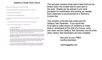 Oedipus the King Test Pack