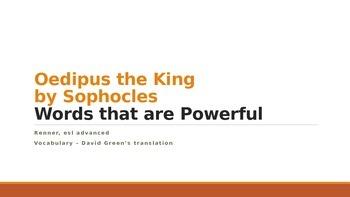 IR Oedipus Vocabulary PPt