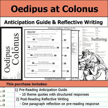 Oedipus at Colonus - Anticipation Guide & Reflection