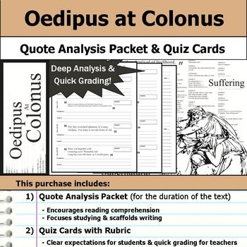 Oedipus at Colonus - Quote Analysis & Reading Quizzes