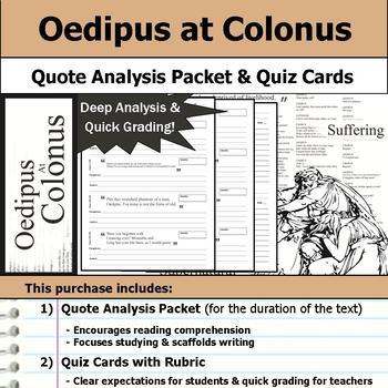 Oedipus at Colonus - Quote Analysis & Reading Quizzes