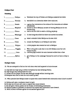 Oedipus test and answer key