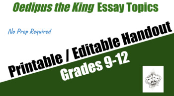 Health And Fitness Essays Oedipus The King Essay Assignment Handout Healthcare Essay Topics also Example Of Essay Writing In English Freebie Oedipus The King Essay Assignment Handout By Teachers Best Health Issues Essay