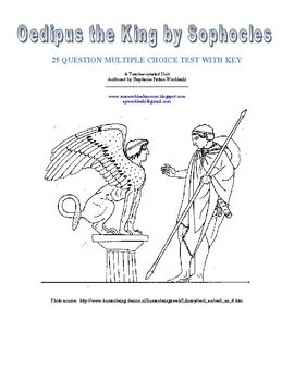 Oedipus the King by Sophocles: Multiple Choice Test with Key