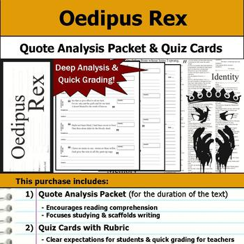 Oedipus the King or Oedipus Rex - Quote Analysis & Reading Quizzes