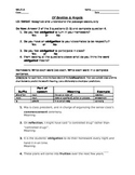 """""""Of Beetles & Angels"""" Vocabulary handout"""