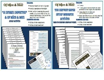 Of Mice & Men Extension Bundle - 8 ACTIVITIES IN ALL!