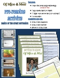 Of Mice & Men Pre-reading Activity - Video stations