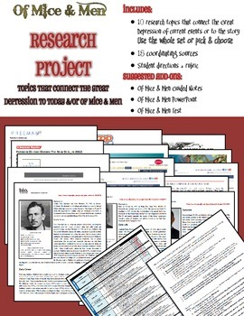 Of Mice & Men Research Project Kit